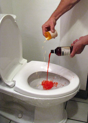 Drugs dumped down the toilet can end up n drinking water. Photo by Bet Zimmerman.