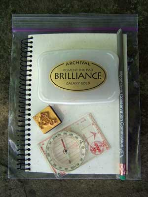 Letterboxing supplies